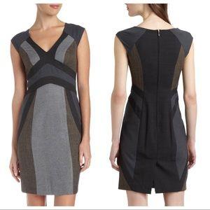 Rebecca Taylor Flannel Mix Sheath Dress